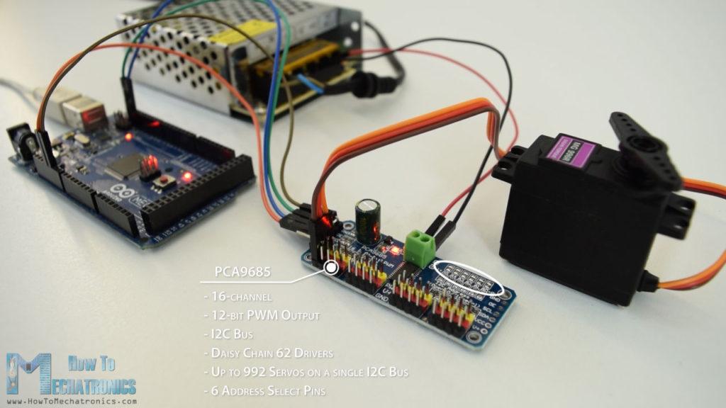 Servo Arduino và PCA9685